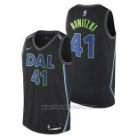 Camiseta Dallas Mavericks Dirk Nowitzki #41 Ciudad 2017-18 Negro