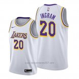 Camiseta Los Angeles Lakers Andre Ingram #20 Association Blanco