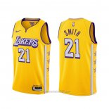 Camiseta Los Angeles Lakers J.r. Smith #21 Ciudad 2020 Amarillo