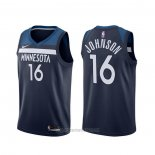 Camiseta Minnesota Timberwolves James Johnson #16 Icon Negro