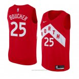 Camiseta Toronto Raptors Chris Boucher #25 Earned 2018-19 Rojo