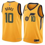 Camiseta Utah Jazz Alec Burks #10 Statement 2018 Amarillo