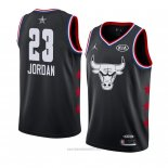 Camiseta All Star 2019 Chicago Bulls Michael Jordan #23 Negro