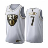 Camiseta Golden Edition Brooklyn Nets Kevin Durant #7 Blanco
