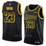 Camiseta Los Angeles Lakers Anthony Davis #23 Ciudad 2019-20 Negro