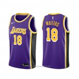Camiseta Los Angeles Lakers Dion Waiters #18 Statement Violeta