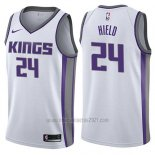 Camiseta Sacramento Kings Buddy Hield #24 Association 2017-18 Blanco