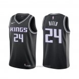 Camiseta Sacramento Kings Buddy Hield #24 Statement Negro