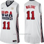 Camiseta USA 1992 Karl Malone #11 Blanco