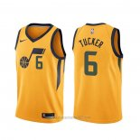 Camiseta Utah Jazz Rayjon Tucker #6 Statement Edition Amarillo