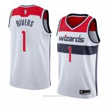 Camiseta Washington Wizards Austin Rivers #1 Association 2018 Blanco