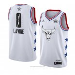 Camiseta All Star 2019 Chicago Bulls Zach Lavine #8 Blanco