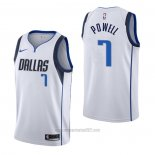 Camiseta Dallas Mavericks Dwight Powell #7 Association Blanco