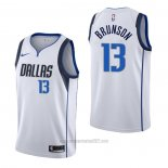 Camiseta Dallas Mavericks Jalen Brunson #13 Association Blanco