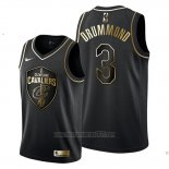 Camiseta Golden Edition Cleveland Cavaliers Andre Drummond #3 2019-20 Negro