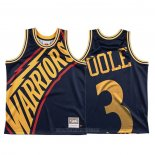 Camiseta Golden State Warriors Jordan Poole #3 Mitchell & Ness Big Face Azul