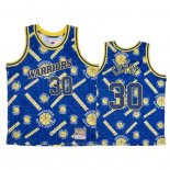 Camiseta Golden State Warriors Stephen Curry #30 Hardwood Classics Tear Up Pack Azul