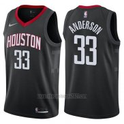 Camiseta Houston Rockets Ryan Anderson #33 Statement 2017-18 Negro