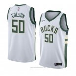 Camiseta Milwaukee Bucks Bonzie Colson #50 Association 2018 Blanco