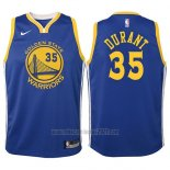 Camiseta Nino Golden State Warriors Kevin Durant #35 2017-18 Azul