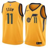 Camiseta Utah Jazz Dante Exum #11 Statement 2018 Amarillo