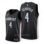 Camiseta Washington Wizards Admiral Schofield #4 Ciudad 2019-20 Negro