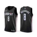 Camiseta Washington Wizards Rui Hachimura #8 Ciudad 2019-20 Negro