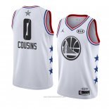 Camiseta All Star 2019 Golden State Warriors Demarcus Cousins #0 Blanco