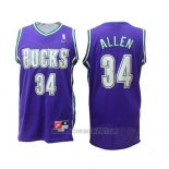 Camiseta Milwaukee Bucks Allen #34 Retro Violeta