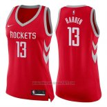 Camiseta Mujer Houston Rockets James Harden #13 Icon 2017-18 Rojo