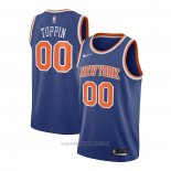 Camiseta New York Knicks Obi Toppin #00 Icon 2020-21 Azul