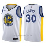 Camiseta Nino Golden State Warriors Stephen Curry #30 Blanco