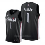 Camiseta Washington Wizards Austin Rivers #1 Ciudad Edition Negro