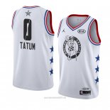 Camiseta All Star 2019 Boston Celtics Jayson Tatum #0 Blanco