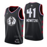 Camiseta All Star 2019 Dallas Mavericks Dirk Nowitzki #41 Negro