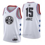 Camiseta All Star 2019 Denver Nuggets Nikola Jokic #15 Blanco