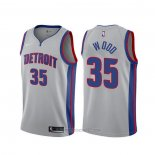 Camiseta Detroit Pistons Christian Wood #35 Statement Gris