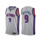Camiseta Detroit Pistons Langston Galloway #9 Statement Gris