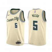 Camiseta Milwaukee Bucks D. J. Wilson #5 Ciudad 2018-19 Amarillo
