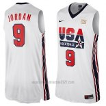 Camiseta USA 1992 Michael Jordan #9 Blanco