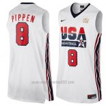 Camiseta USA 1992 Scottie Pippen #8 Blanco