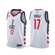 Camiseta Washington Wizards Isaac Bonga #17 Ciudad Blanco