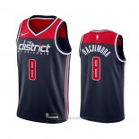 Camiseta Washington Wizards Rui Hachimura #8 Statement Azul
