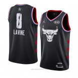 Camiseta All Star 2019 Chicago Bulls Zach Lavine #8 Negro