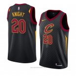 Camiseta Cleveland Cavaliers Brandon Knight #20 Statement 2018 Negro