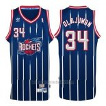 Camiseta Houston Rockets Hakeem Olajuwon #34 Retro Azul