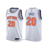 Camiseta New York Knicks Kevin Knox #20 Statement Blanco