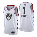 Camiseta All Star 2019 Brooklyn Nets Dangelo Russell #1 Blanco