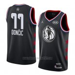 Camiseta All Star 2019 Dallas Mavericks Luka Doncic #77 Negro
