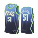 Camiseta Dallas Mavericks Boban Marjanovic #51 Ciudad Edition Azul
